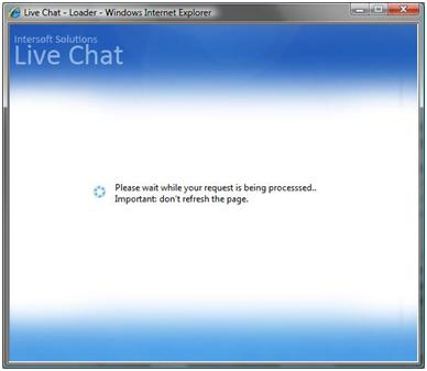 Live Chat Loading page