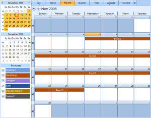 Month View - New event inserted