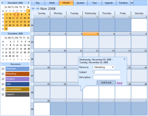 Month View - Multiple=
