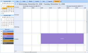 Timeline View - New Event inserted