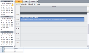 Both WebScheduler and WebGrid are configured to display data