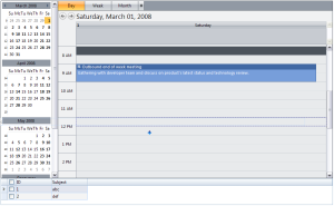 WebGridRow is dragged to WebScheduler