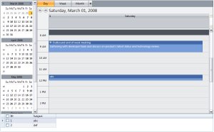 A new event is created when the row is dropped to WebScheduler