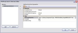 WebDropControl Collection Editor dialog box