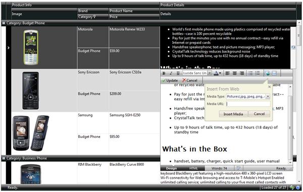 WebTextEditor Integration