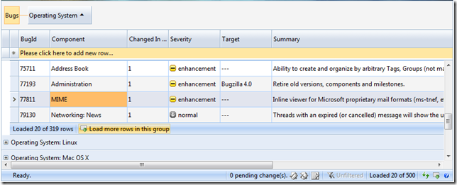 WebGrid with GroupRowPaging