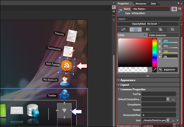 UXDock Designtime