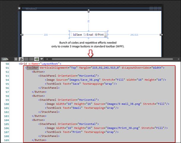 WPF Toolbar