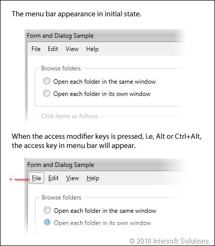 ClientUI AccessKey