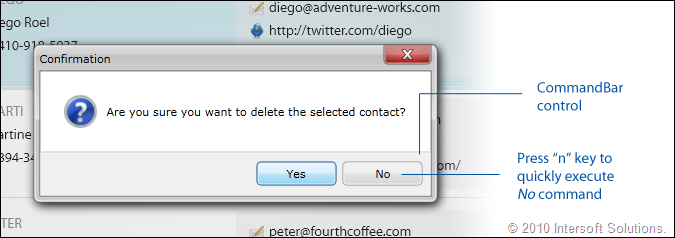 ClientUI CommandBar AccessKey