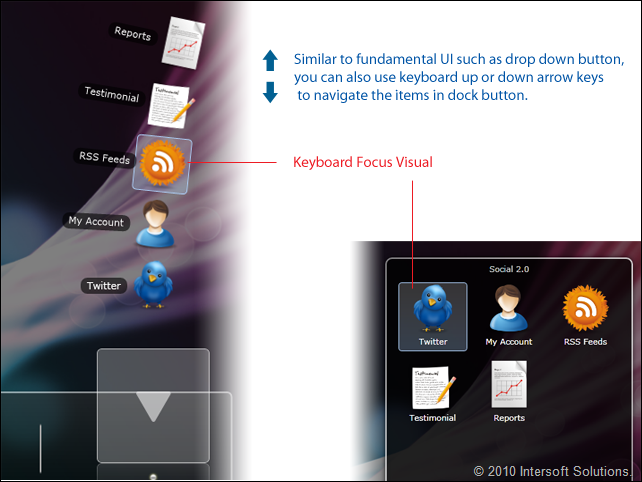 ClientUI Dock Button