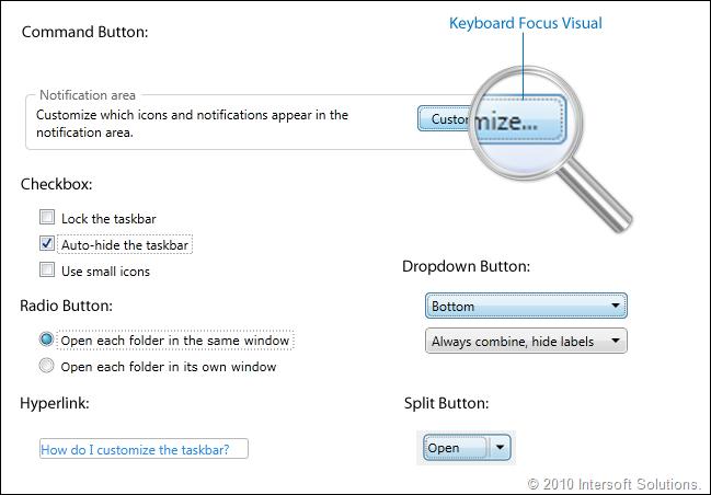 ClientUI Keyboard Focus
