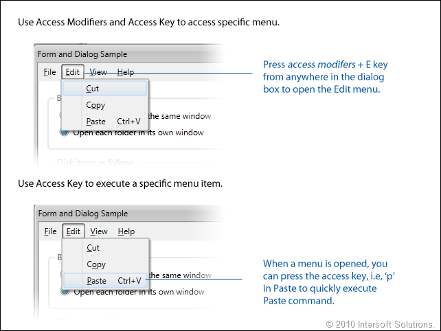 ClientUI MenuBar AccessKey
