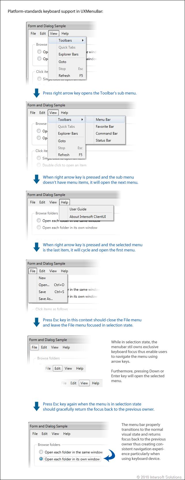 ClientUI Menu Navigation
