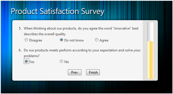 Online Product Satisfaction Survey