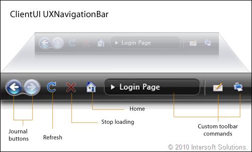 ClientUI UXNavigationBar