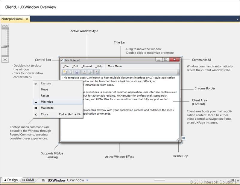 ClientUI UXWindow