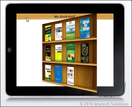 iPad-style book navigation with elegant 3D flipping transition