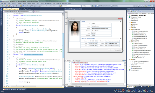 Design-time view model using EntityManagerFactory