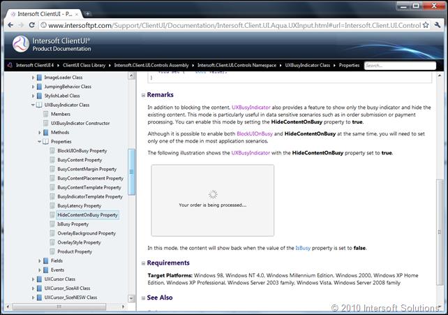 ClientUI Online Documentation