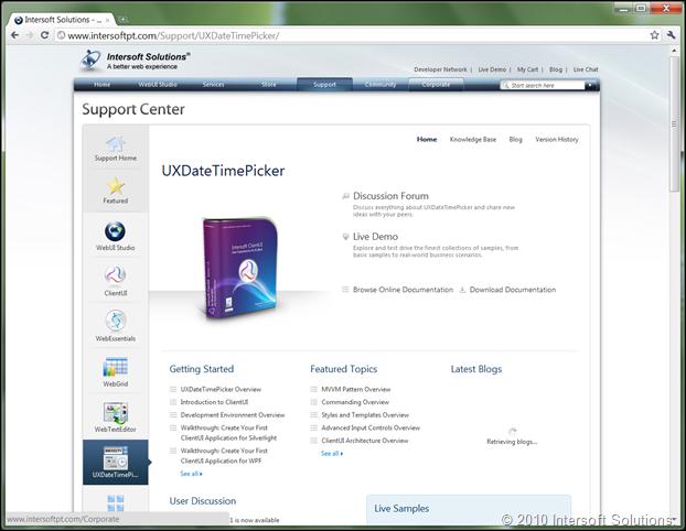 Support Center Updates