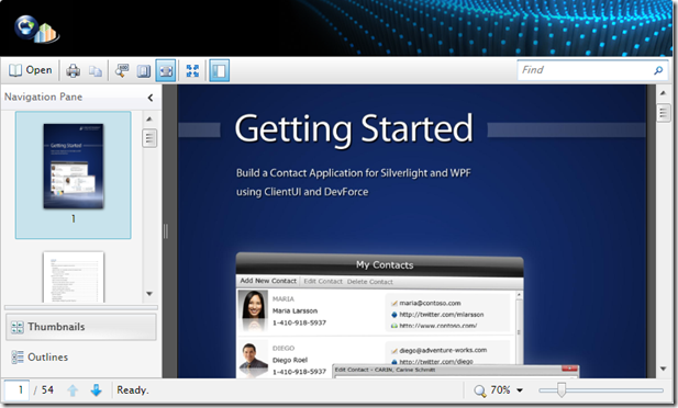Getting Started Document Viewer