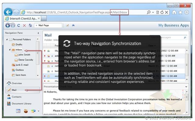 Automatic navigation synchronization