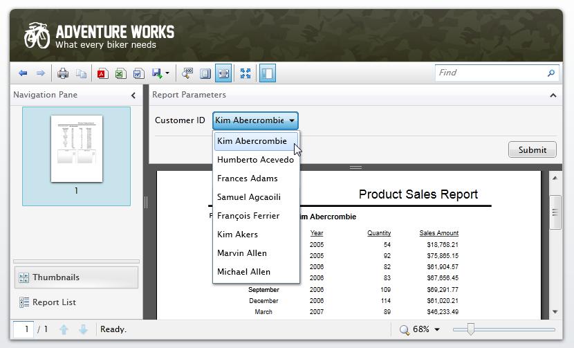 Word Sales Report