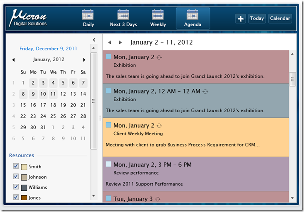UXScheduleView - Software Project Schedule