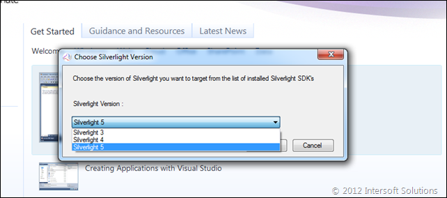 Silverlight version target