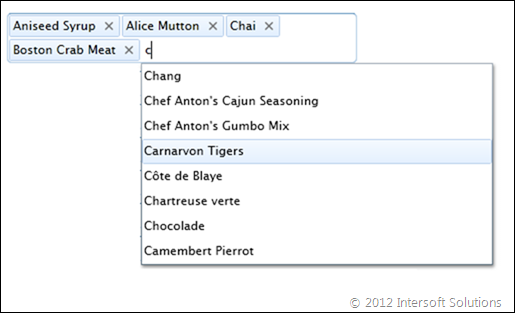 UXMultipleSelectionComboBox with automatic server filtering