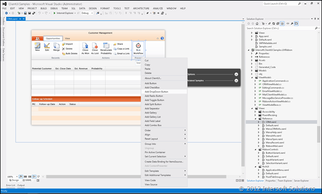 ClientUI 7 in Visual Studio 2012