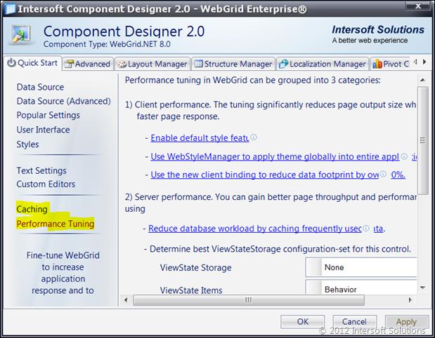 Pre VS 2012 WebGrid designer