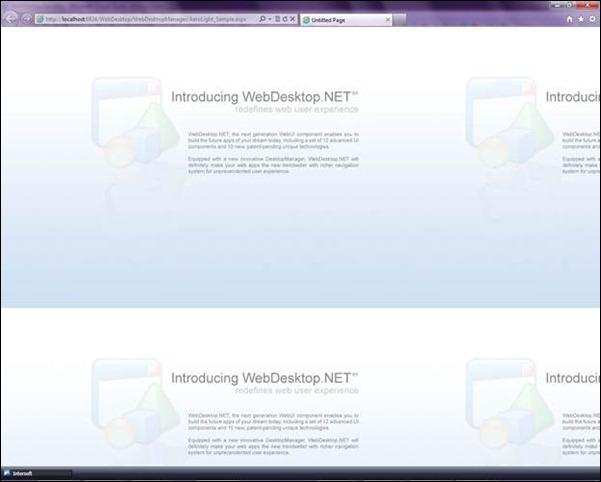 Figure 4.1 WebDesktop's window is not well-rendered.