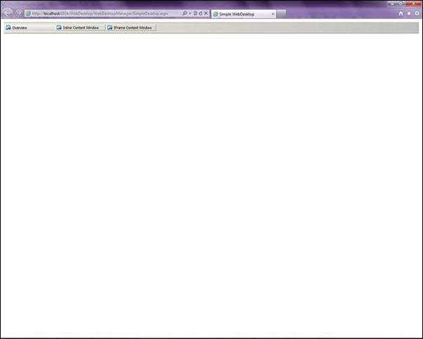Figure 3.1 WebDesktop Rendering error in HTML5.