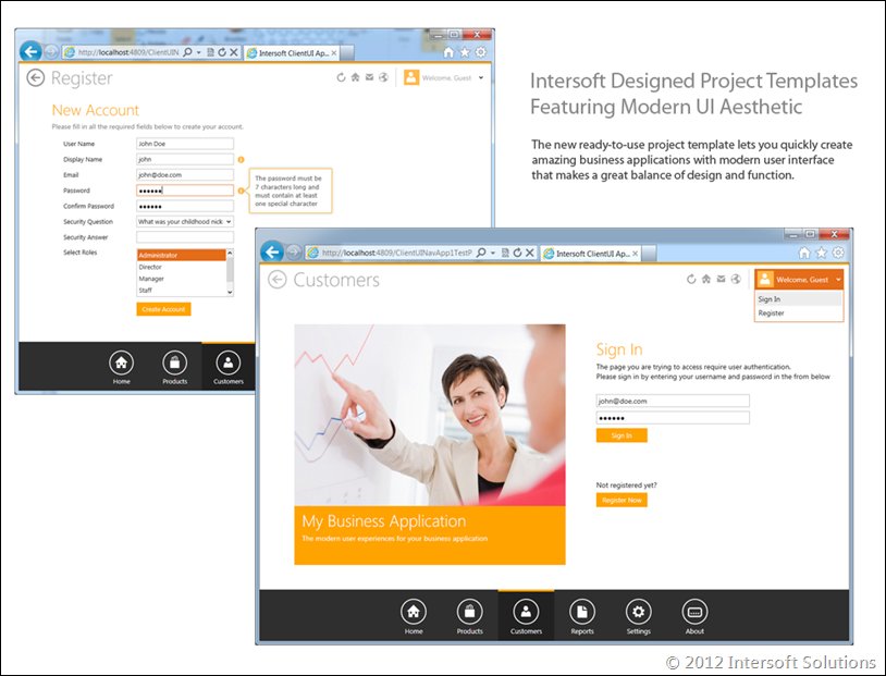 Intersoft Designed Modern UI Themes