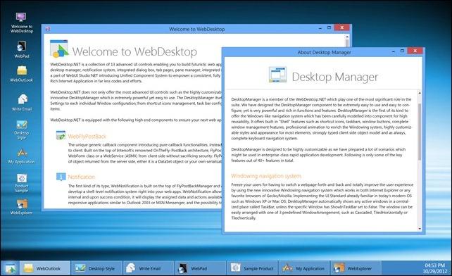 WebDesktopManager Metro Style