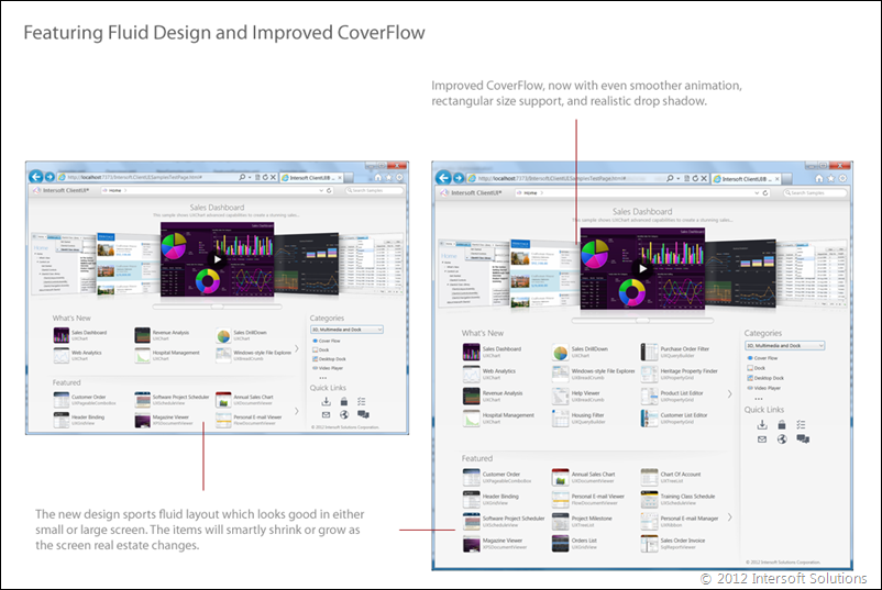 Fluid design and improved CoverFlow