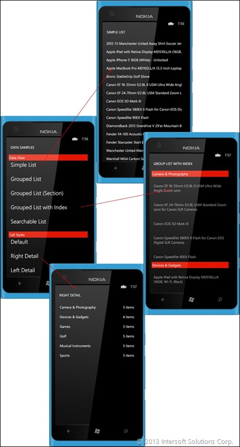 Unified List Navigation on WIndows Phone