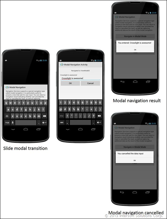 Modal Navigation on Android