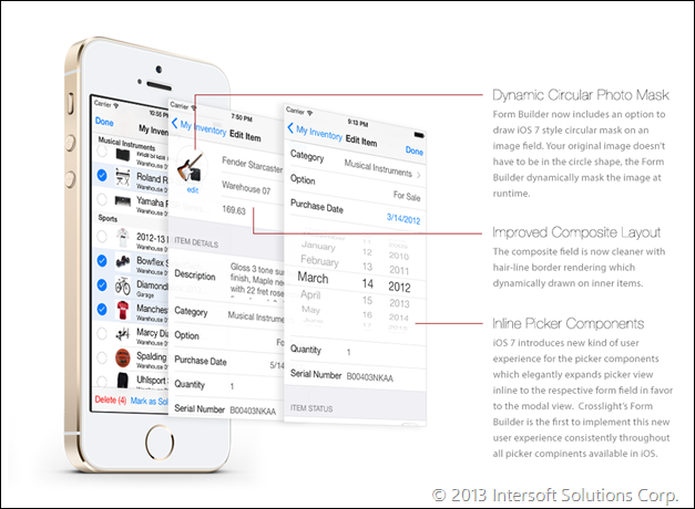 Form Builder Redesigned for iOS 7