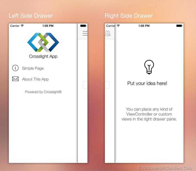 Crosslight Adds Stunning Drawer Navigation Ui Components